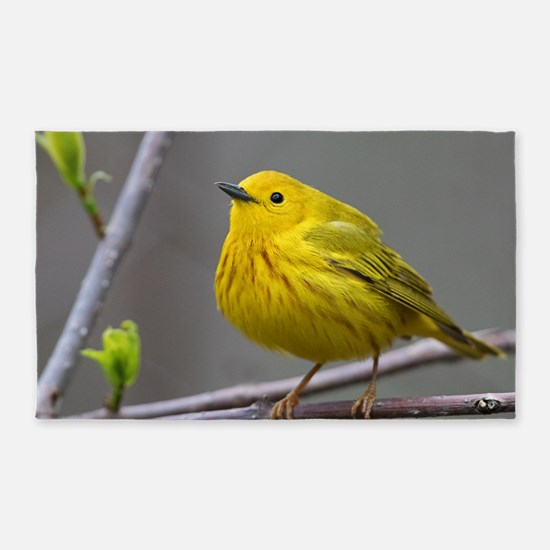 Yellow Warbler Area Rug