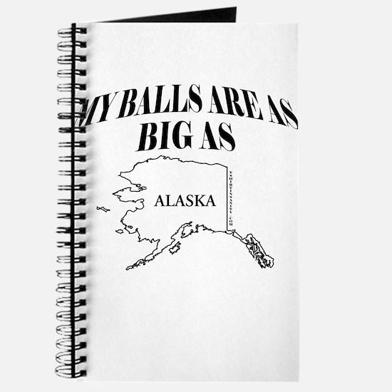 MY BALLS ARE AS BIG AS ALASKA Journal