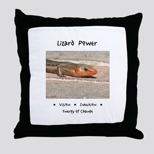 Lizard Power Animal Medicine Throw Pillow