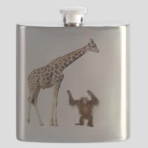 Giraffe & Orangutan Flask