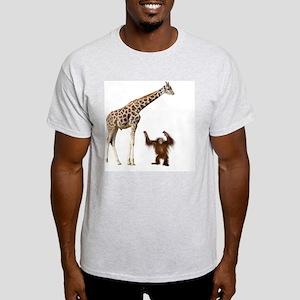Giraffe & Orangutan Light T-Shirt