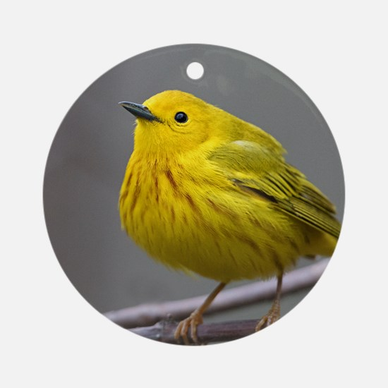 Yellow Warbler Round Ornament