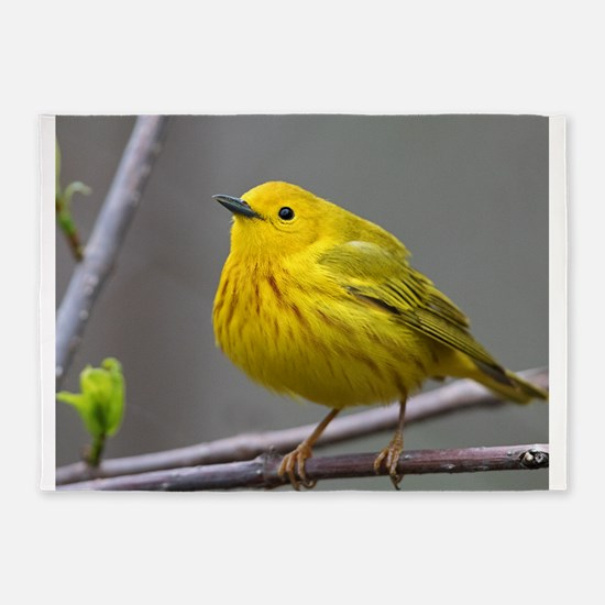 Yellow Warbler 5'x7'Area Rug