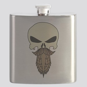 Bearded P-Skull Flask
