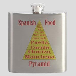 Spanish Food Pyramid Flask
