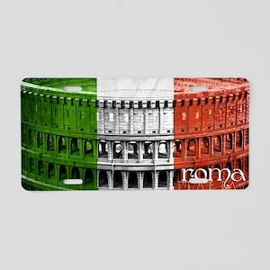 ROMA ITALIA COLISEUM Aluminum License Plate