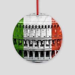ROMA ITALIA COLISEUM Round Ornament