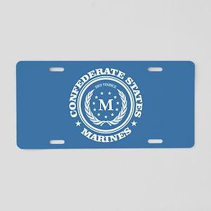 Confederate Marines Aluminum License Plate