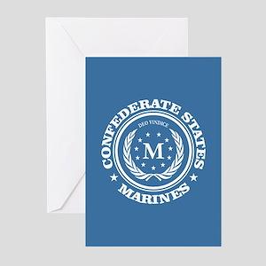 Confederate Marines Greeting Cards