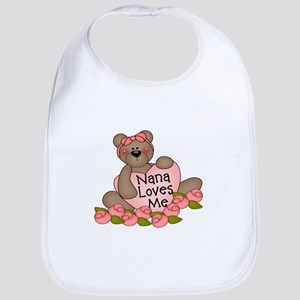 Nana Loves Me CUTE Bear Bib