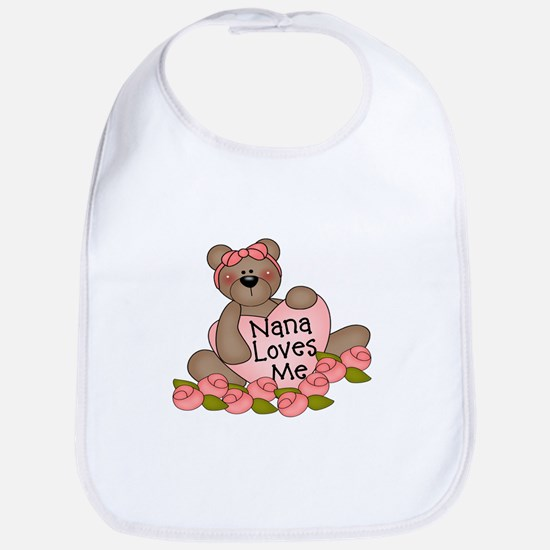 Nana Loves Me CUTE Bear Bib