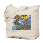 Hummingbird Goldfish Kiss Tote Bag