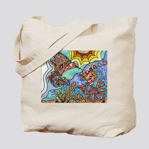 Hummingbird Goldfish Kiss Tote Bag