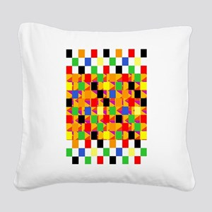 Mad Squares Square Canvas Pillow