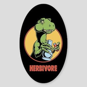 T-Rex Herbivore Sticker (Oval)