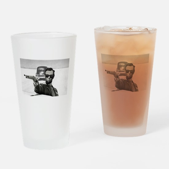 Bad A** Abe Drinking Glass