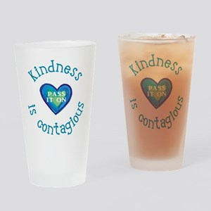 Kindness is Contagious Drinking Glass