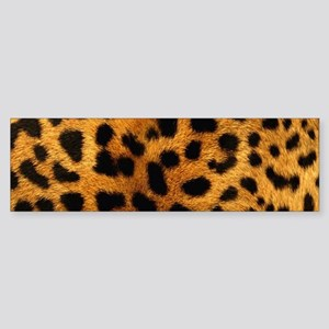 girly trendy leopard print Bumper Sticker
