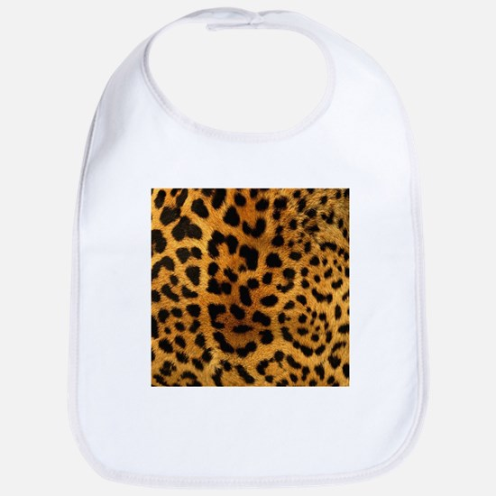 girly trendy leopard print Bib