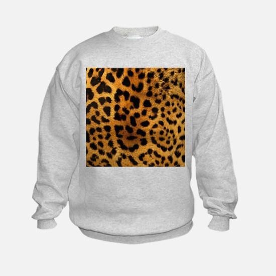 girly trendy leopard print Sweatshirt
