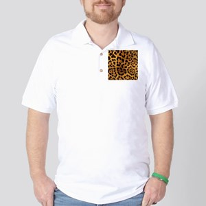 girly trendy leopard print Golf Shirt