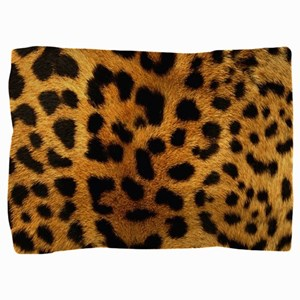 girly trendy leopard print Pillow Sham