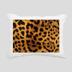 girly trendy leopard pri Rectangular Canvas Pillow