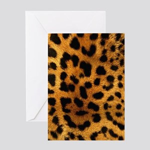 girly trendy leopard print Greeting Cards