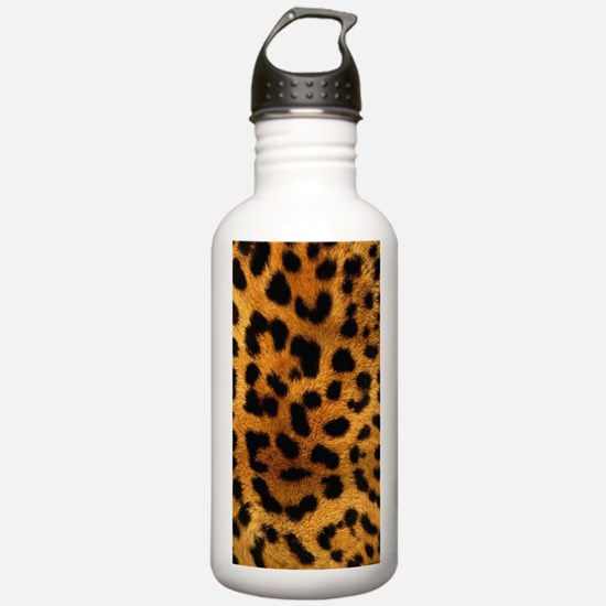 girly trendy leopard p Water Bottle