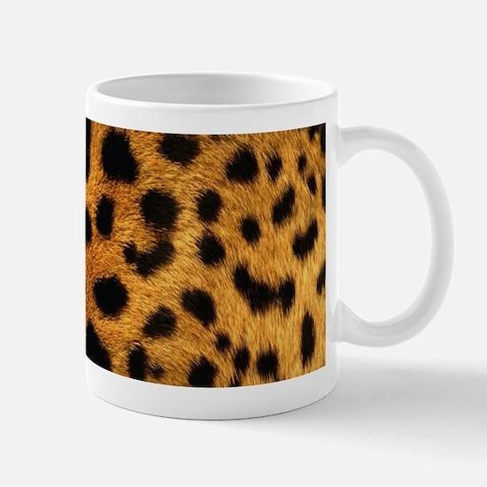 girly trendy leopard print Mugs