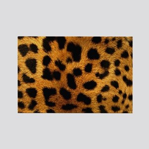 girly trendy leopard print Magnets