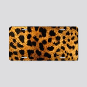 girly trendy leopard print Aluminum License Plate