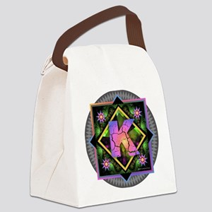 Bold Beautiful K Canvas Lunch Bag