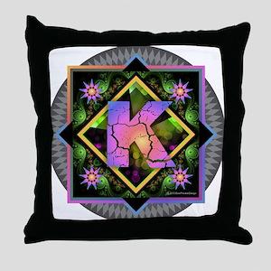Bold Beautiful K Throw Pillow