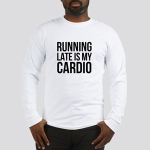 rUNNING LATE - BLACK Long Sleeve T-Shirt