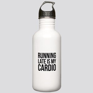 rUNNING LATE - BLACK Stainless Water Bottle 1.0L