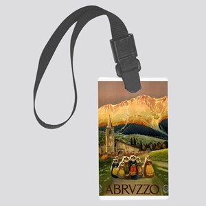 Vintage Abruzzo Italy Travel Luggage Tag