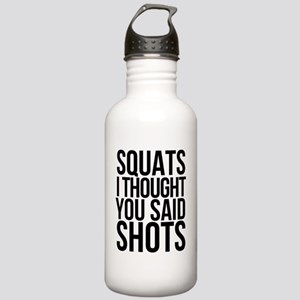 SQUATS SHOTS Stainless Water Bottle 1.0L