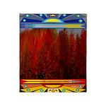 Autumn Fire Indian Blanket Motif Throw Blanket
