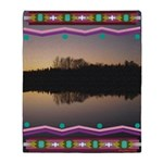 Mirror Lake Indian Blanket Motif Throw Blanket