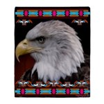 Brave Eagle Indian Blanket Motif Throw Blanket