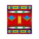 Peaceful Dance Indian Blanket Motif Throw Blanket
