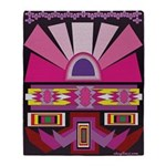 Pink Moon Indian Blanket Motif Throw Blanket