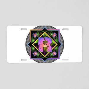 Bold Beautiful R Aluminum License Plate