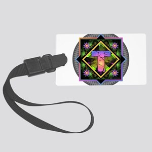 Bold Beautiful T Large Luggage Tag