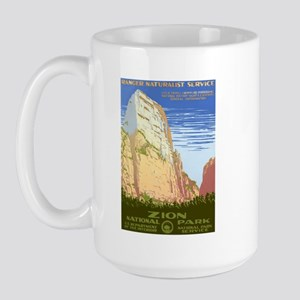 1930s Vintage Zion National Park Large Mug