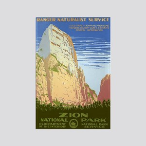 1930s Vintage Zion National Park Rectangle Magnet