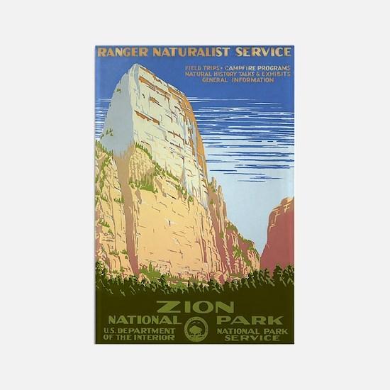 1930s Vintage Zion National Park Rectangle Magnet