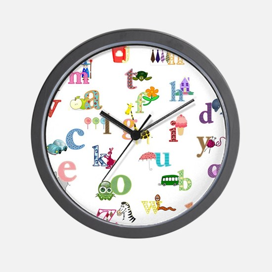 I learn the alphabet Wall Clock