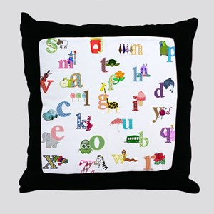 I learn the alphabet Throw Pillow